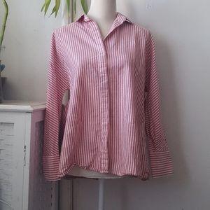 Zara casual stripe button down  shirt